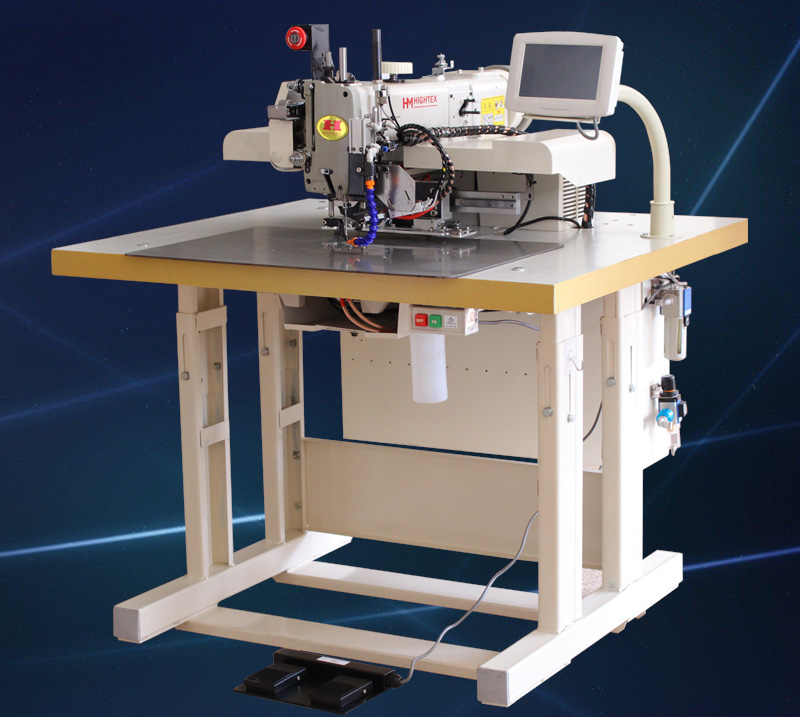 Automatic lifting sling and lashing strap sewing machine