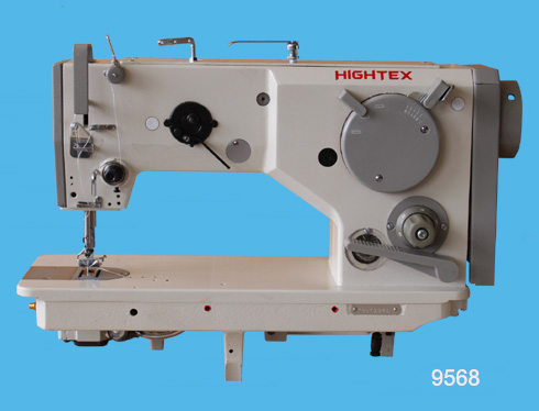 Zigzag decorative stitch sewing machine for leather